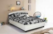 Čalouněná postel Zonda 120x200,šedá,bílá, vč. matrace a úp