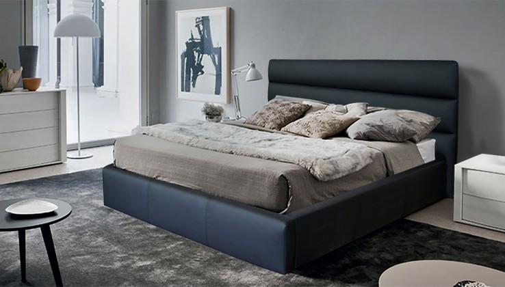 Čalouněná Rám postele Nancy - 140x200 (eko kůže)