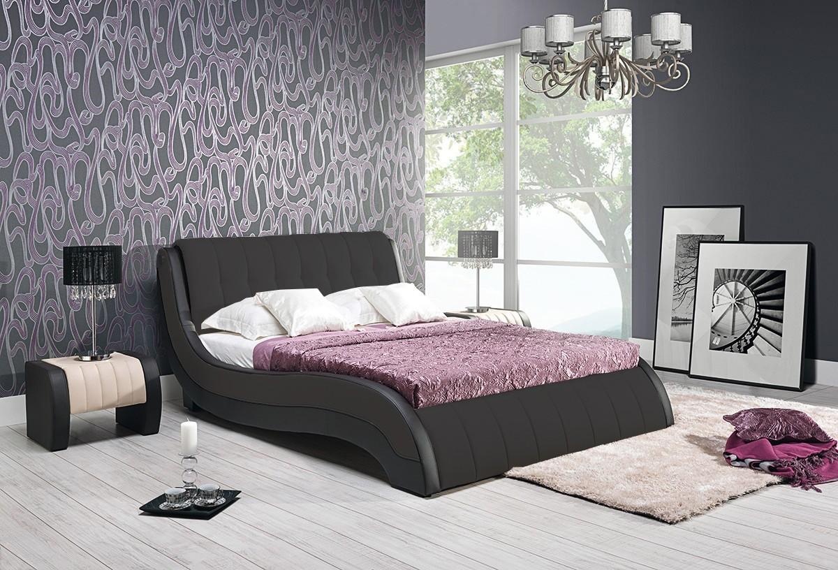 Čalouněná Rám postele Nicol II - 160x200, s roštem