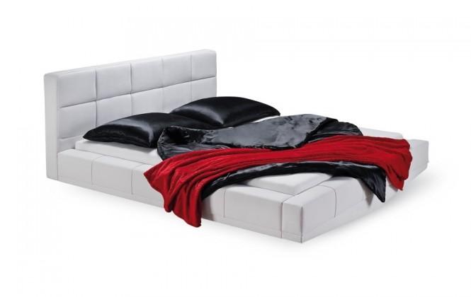 Čalouněná Santi - rám postele, rošt, 1x matrace (200x140)