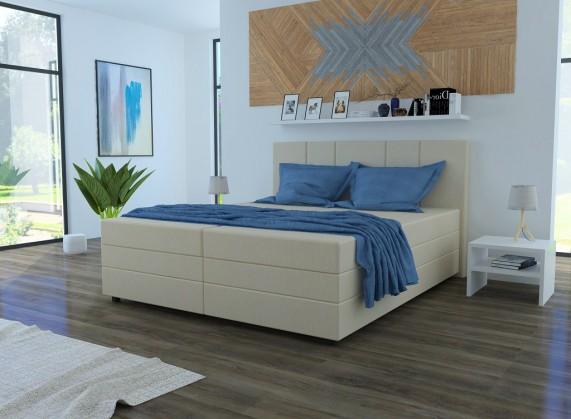 Čalouněné postele Čalouněná postel Alexa 180x200, vč. matrace a úp, béžová