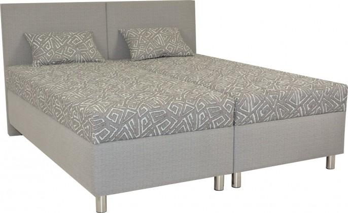 Čalouněné postele Čalouněná postel Colorado 160x200, šedá, vč. matrace a úp