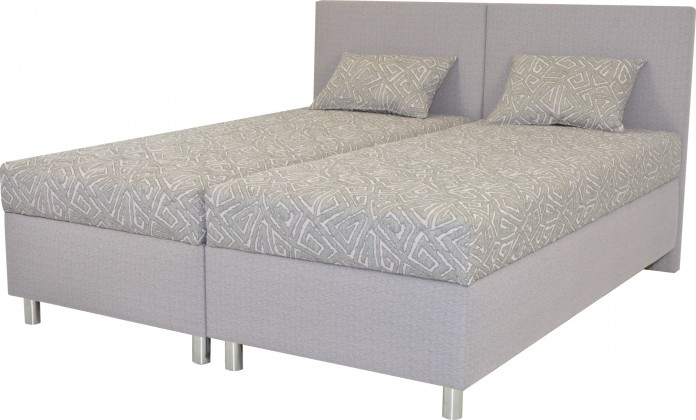 Čalouněné postele Čalouněná postel Colorado 180x200, šedá, vč. matrace a úp