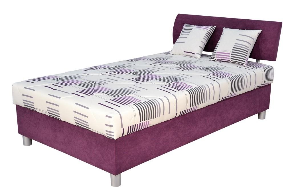 Čalouněné postele Čalouněná postel George 120x200, fialová, vč. matrace a úp