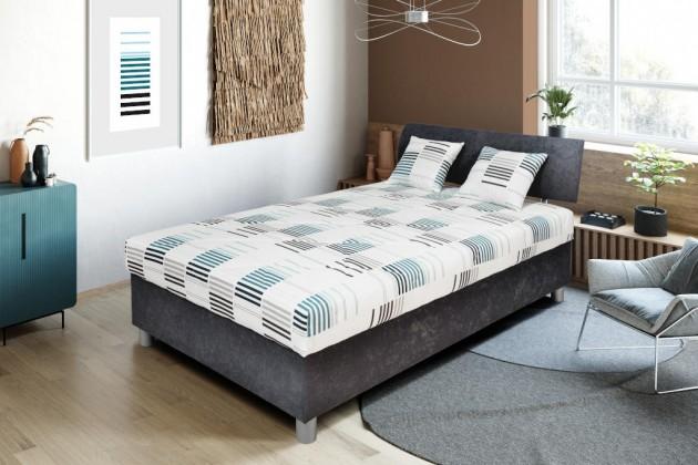 Čalouněné postele Čalouněná postel George 120x200, šedá, vč. matrace a úp