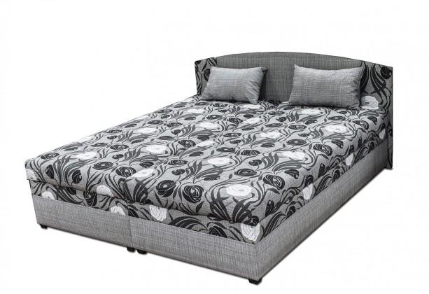 Čalouněné postele Čalouněná postel Kappa 180x200, šedá, vč. matrace, roštu a úp