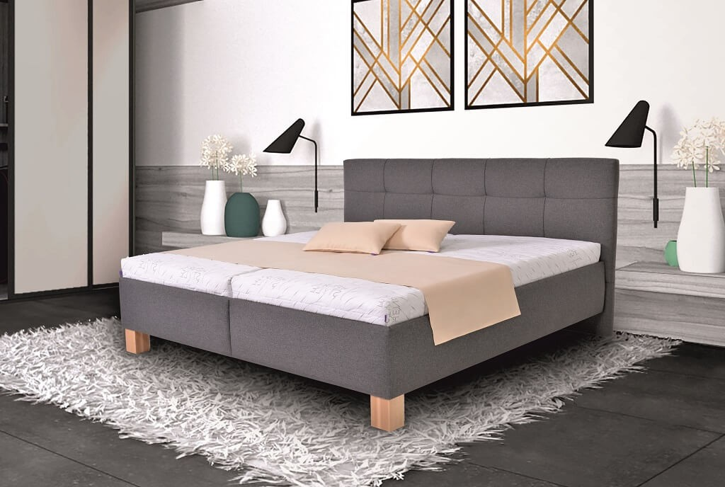 Čalouněné postele Čalouněná postel Mary 180x200, vč. matrace, pol.roštu a úp