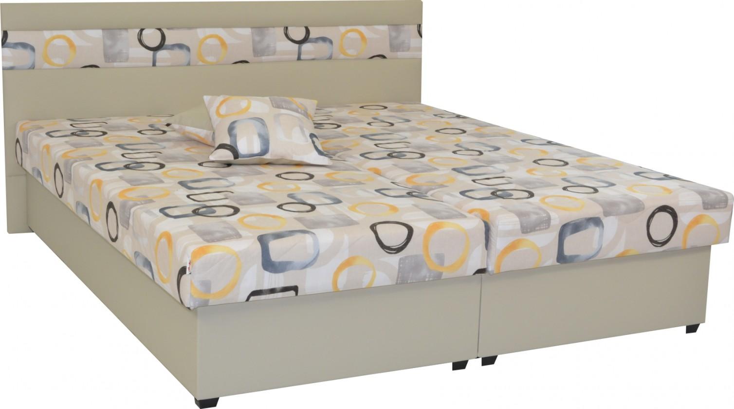 Čalouněné postele Čalouněná postel Mexico 160x200, béžová, včetně úp