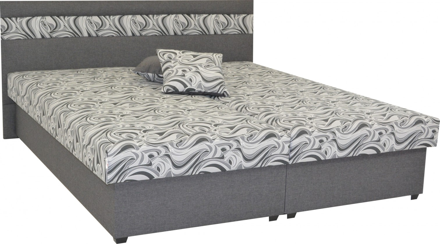 Čalouněné postele Čalouněná postel Mexico 160x200, šedá, včetně úp