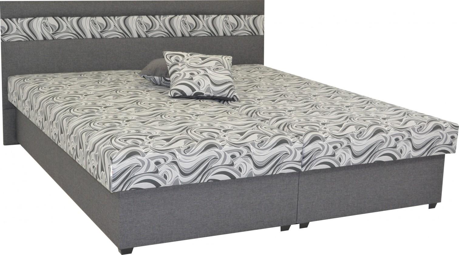 Čalouněné postele Čalouněná postel Mexico 180x200, šedá, včetně úp