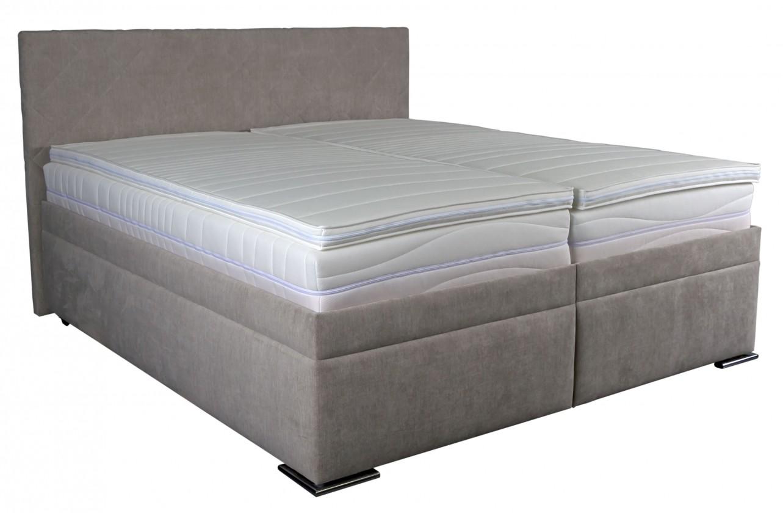 Čalouněné postele Čalouněná postel Rory 180x200, šedá, vč. matrace, roštu a úp