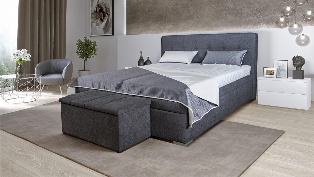 Čalouněné postele Čalouněná postel Trent 180x200, vč. matrace, poloh. roštu a úp