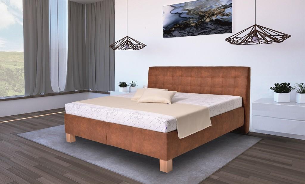 Čalouněné postele Čalouněná postel Victoria 180x200, vč. matrace, pol. roštu a ÚP