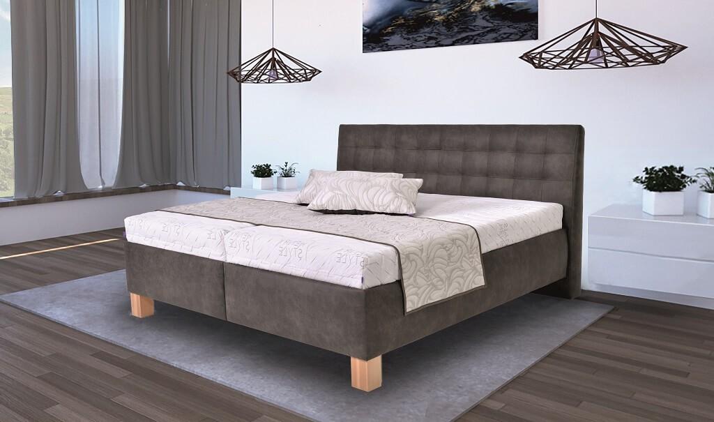 Čalouněné postele Čalouněná postel Victoria 180x200, vč. matrace, pol.roštu a úp