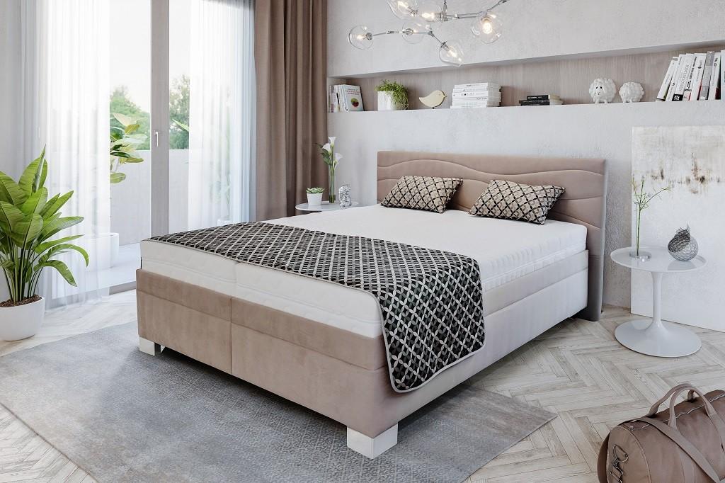 Čalouněné postele Čalouněná postel Windsor 180x200 vč. matrace a výklop. roštu, úp