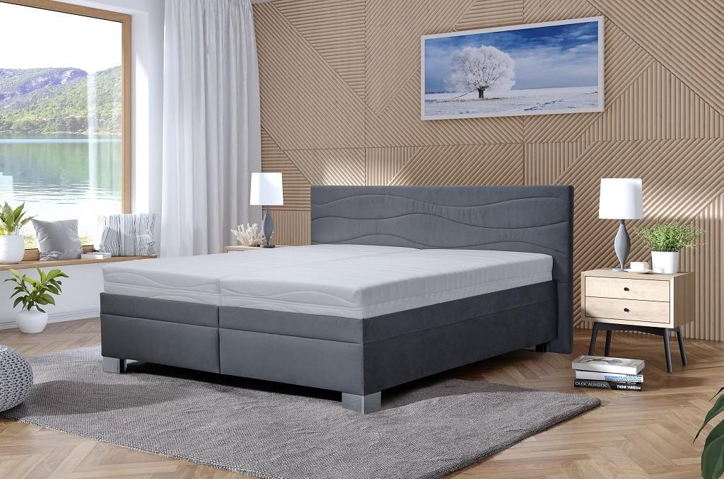 Čalouněné postele Čalouněná postel Windsor 200x200, vč. matrace, pol. roštu, ÚP