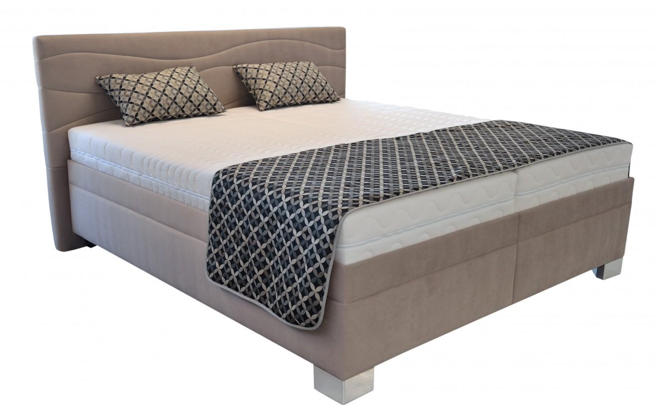 Čalouněné postele Čalouněná postel Windsor 200x200, vč. poloh. roštu, matrace a úp