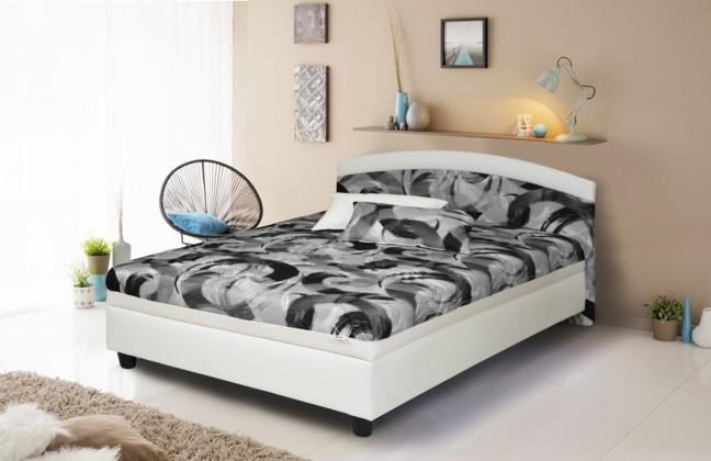 Čalouněné postele Čalouněná postel Zonda 120x200,šedá,bílá, vč. matrace a úp