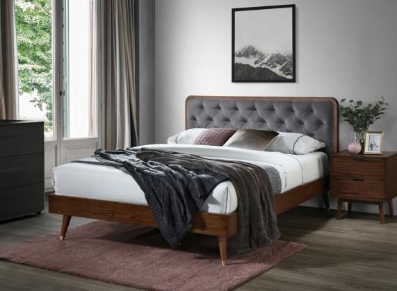 Čalouněné postele Postel Vivien 160x200, ořech, včetně roštu, bez matrace a ÚP