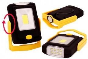 Campingová svítilna LED COB s otočným stojánkem a reflektorem
