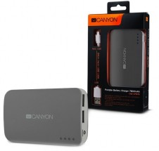Canyon CNE-CPB78 Power Bank 7800mAh, šedá