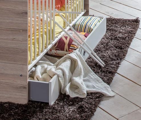 Cariba - Úložný prostor pod dět. postýlku (san remo dub, bílá)