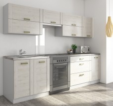 Carmen - Kuchyňský blok B, 200/260 (dub šedý, travertin tmavý)