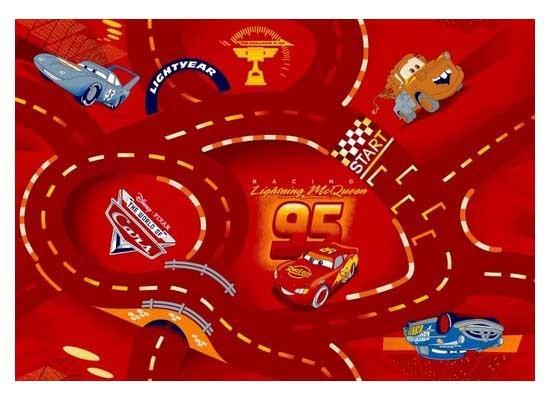 Cars červený - Koberec 133X165 cm