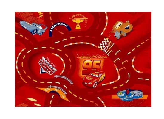 Cars červený - Koberec 80X120 cm