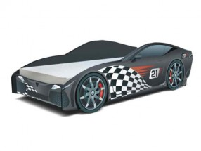 Cars - Dětská postel (F1 černá)