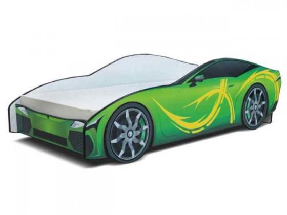 Cars - Dětská postel (zelená)