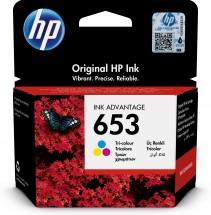 Cartridge HP 3YM74AE, 653, Tri-color