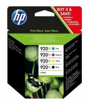 Cartridge HP C2N92AE, 920XL, čtyřbalení, CMYK