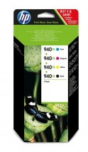 Cartridge HP C2N93AE, 940XL, čtyřbalení, CMYK