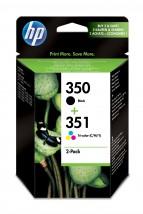 Cartridge HP SD412EE, 350, dvojbalení, černá,Tri-color
