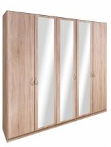 Cassanova - Šatní skříň (2x dveře, 3x dveře se zrcadlem)