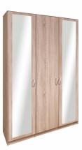Cassanova - Skříň, 1x dveře,2x dveře se zrcadlem (dub bardolino)