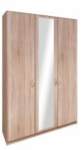 Cassanova - Skříň, 2x dveře,1x dveře se zrcadlem (dub bardolino)