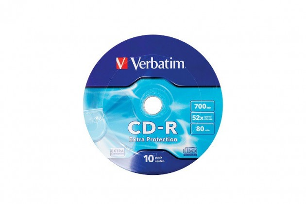 CD Verbatim CD 700MB WRAP PROTECTION 10ks (43725)