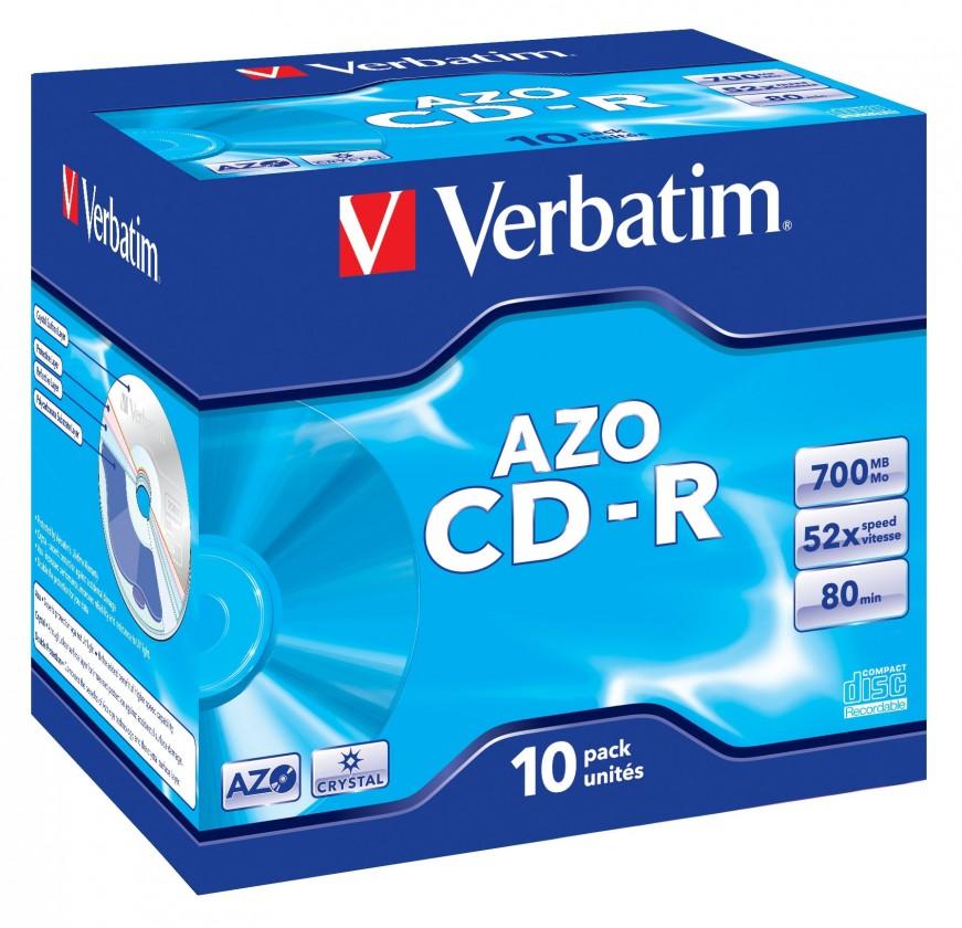 CD Verbatim CD-R 80 52x CRYST. box 1ks