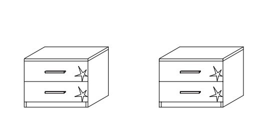 Celle AP455.646Z - pár (dub sanremo světlý/bílá lesk)