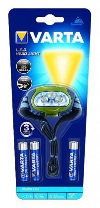 Čelovka Varta, LED
