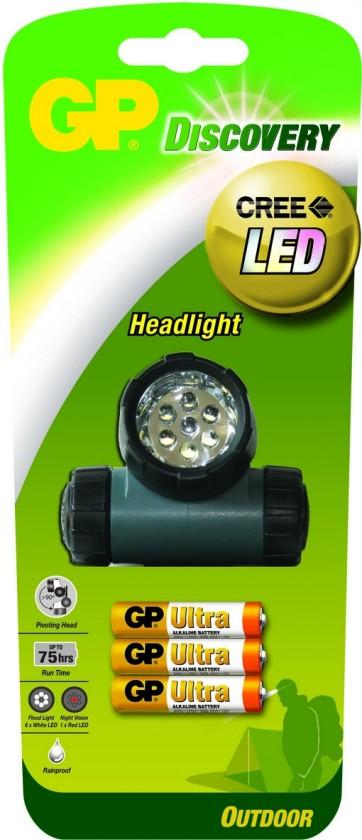 Čelovky LED čelovka GP LOE205 + 3 x AAA baterie GP Ultra