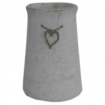 Cementová váza CV03 se srdíčkem (25 cm)