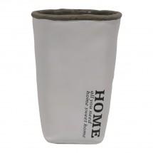 Cementová váza CV04 bílá (20 cm)