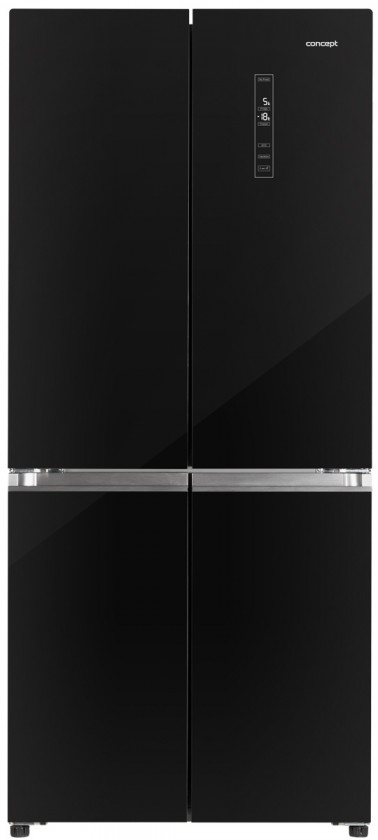 Černá Americká lednice Concept LA8783bc