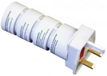 Cestovní adaptér Solight PA21, skládací, bílý