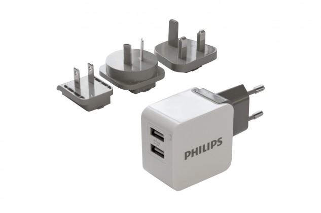 Cestovní nabíječka se dvěma USB porty