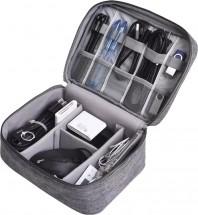 Cestovní pouzdro na elektroniku XL, 24cmx17cmx9cm, šedá