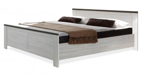 Chateau - postel 180x200 (dub bílý/lava černá)